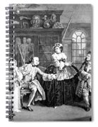Visit To The Quack Doctor, 1745 Spiral Notebook