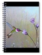 Visiting The Purple Garden Spiral Notebook