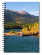 Visitors At Pikes Peak And Crystal Reservoir Spiral Notebook