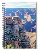 Visitors Dwarfed By Grand Canyon Vista Spiral Notebook