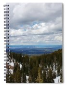 Vista With Snow And Red Rock Spiral Notebook