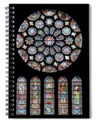 Vitraux - Cathedrale De Chartres - France Spiral Notebook