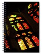 Vivacious Stained Glass Windows Spiral Notebook
