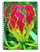 Vivid Gloriosa Lily Spiral Notebook