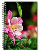 Vivid Pink Columbine Spiral Notebook