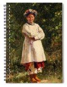 Vladimir Yegorovich Makovsky Russian 1846  1920   Ukrainian Girl, 1898 Spiral Notebook
