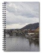 Vltava River Scene Spiral Notebook