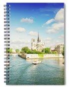 Notre Dame And River Seine Spiral Notebook