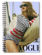 Vogue, Coco Chanel, Vintage Nautical Look, Yatching Spiral Notebook