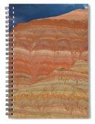 Volcanic Rainbow Spiral Notebook