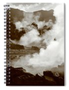 Volcanic Steam Spiral Notebook