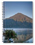 Volcano And Reflection Lake Atitlan Guatemala Spiral Notebook