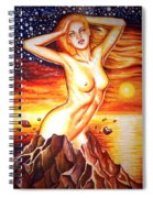 Volcano Girl Spiral Notebook