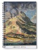 Volcano: Mt. Etna Spiral Notebook