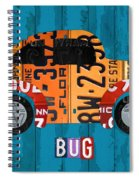 Volkswagen Vw Bug Vintage Classic Retro Vehicle Recycled License Plate Art Usa Spiral Notebook