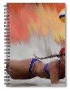 Volleyball Dig Spiral Notebook