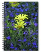Voltage Yellow And Electric Blue 06 Spiral Notebook