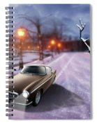 Volvo P1800 Snow Scene Spiral Notebook