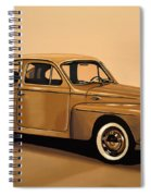 Volvo Pv 544 1958 Painting Spiral Notebook