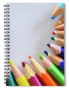 Vortex Of Colored Pencils Spiral Notebook