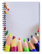 Vortex Of Colored Pencils On The Sheet Of Paper Spiral Notebook
