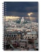 Vue De La Butte Montmartre.roofs Of Paris Spiral Notebook