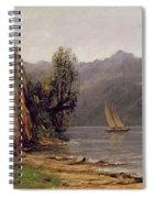 Vue Du Lac Leman Spiral Notebook