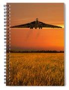 Vulcan Farewell Fly Past Spiral Notebook