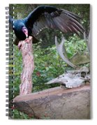 vulture with Skull Spiral Notebook