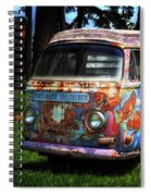 Vw Psychedelic Microbus Spiral Notebook