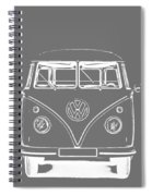Vw Van Graphic Artwork Tee White Spiral Notebook
