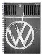 Vw Van Logo Spiral Notebook