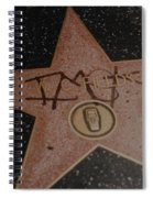 W C Fields Star Spiral Notebook
