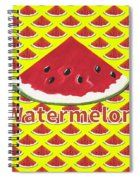 W Is For Watermelon Spiral Notebook