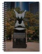 W W II Eagle Spiral Notebook