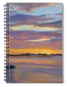 Wades Beach Sunset Spiral Notebook