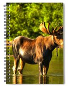 Wading For Breakfast Spiral Notebook