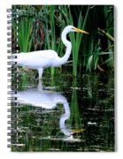 Wading For Food Spiral Notebook