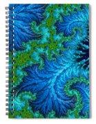 Fractal Art - Wading In The Deep Spiral Notebook