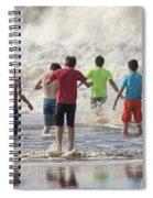 Wading In The Surf Spiral Notebook