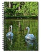Wagner Vinyard Estate Swans Finger Lakes Lodi Ny Spiral Notebook
