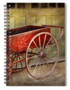 Wagon - That Old Red Wagon  Spiral Notebook