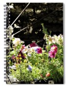 Wagon Wheel And Flowers Spiral Notebook