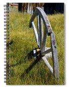 Wagon Wheel In Grass Spiral Notebook