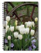 Wagon Wheel Tulips Spiral Notebook