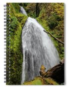 Wahkeena Falls At Footbridge, Oregon Spiral Notebook