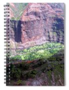 Waiamea Canyon Walls Spiral Notebook