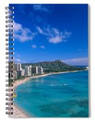 Waikiki And Diamond Head Spiral Notebook
