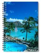 Waikiki And Sailboat Spiral Notebook