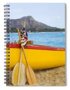 Waikiki Canoe Paddles Spiral Notebook